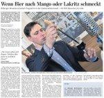 """TV-Seite: Artikel im Trierischen Volksfreund """"Wenn Bier nach Mango oder Lakritz schmeckt"""" am 26.03.2012"""