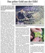Bericht im Trierischen Volksfreund über die Hopfenernte auf dem Hof Dick